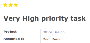 On form, priority widget shows three stars instead of one