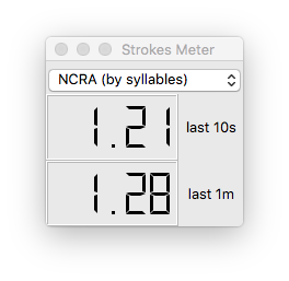 The strokes meter in action