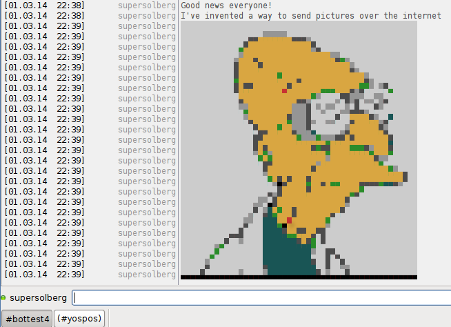 Lenna displayed in 16 colors by xchat.