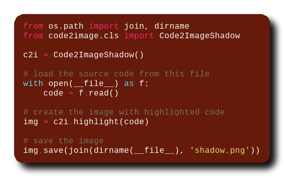 https://raw.githubusercontent.com/axju/code2image/master/examples/shadow.png