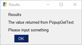 popup gettext response