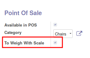 Change the field 'to weigh' for every product