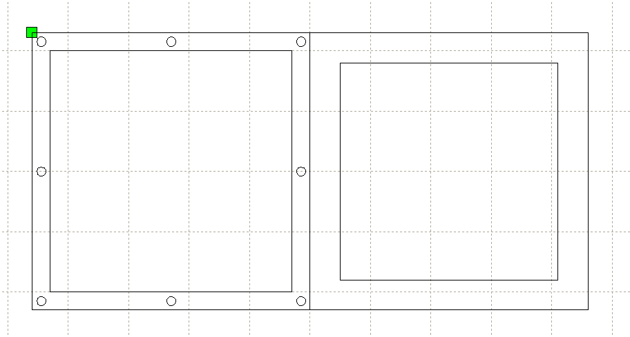 DXF file when imported on a laser fabrication software.