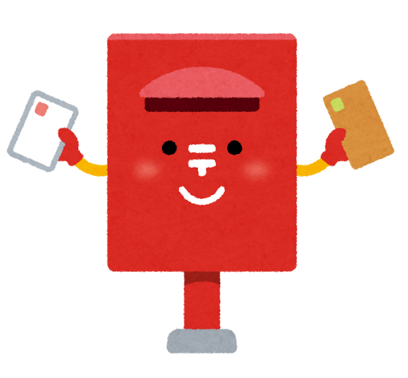 Postbox character by Irasutoya