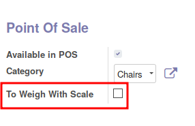 Change the field 'to weigh' for a specific