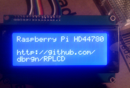Photo of 20x4 LCD in action