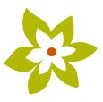 Logo of green flower